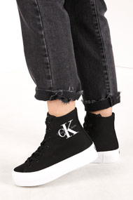 Calvin Klein - Plateau Sneaker high - Black + White + Grey