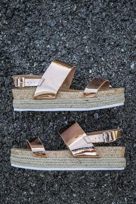Metro Boutique-Fashion Online-Shop Schweiz - Flache Sandalen d9ad2b9097