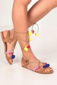 RMC - Sandalen - Brown + Multicolor