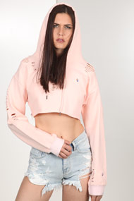 Bae - Sweatshirt court - Rose
