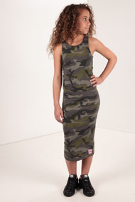 SHADY GIRLS - Robe - Camouflage + Green