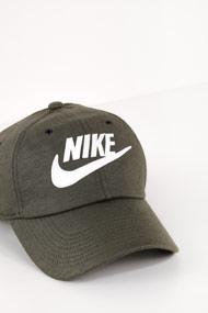 Nike - Strapback Cap - Olive Green + White