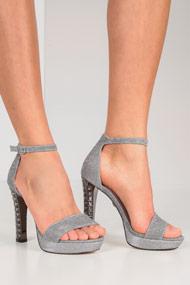 Tata - High Heel Sandalen - Silver