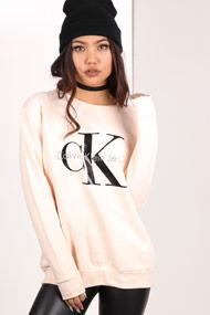 Calvin Klein - Sweatshirt - Light Salmon