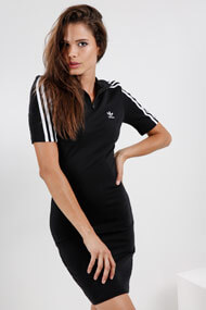 adidas Originals - Kleid - Black + White