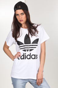adidas Originals - Oversize T-Shirt - White + Black