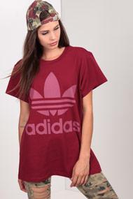 adidas Originals - Oversize T-Shirt - Bordeaux