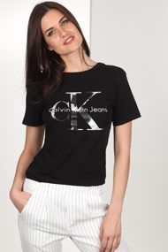 Calvin Klein - T-Shirt - Black + Silver + White