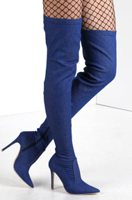 Cape Robbin - Bottes overknee - Denim Blue
