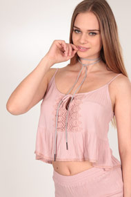 Ruby Tuesday - Crop Top - Old Rose