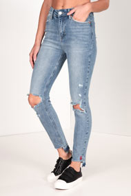 Tally Weijl - Jean slim fit - Blue Used