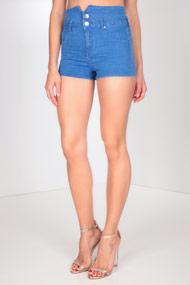 Tally Weijl - High Waist Shorts - Blue
