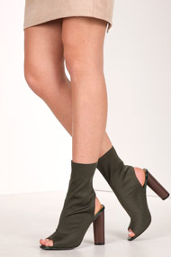 Cape Robbin - Bottines - Olive Green
