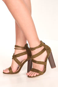 Cape Robbin - Sandales - Olive Green