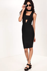 Tic Toc - Robe bodycon - Black