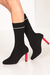 Cape Robbin - Sock boots - Black + Red
