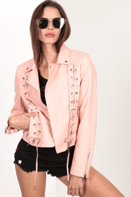 No Label - Veste biker - Rose