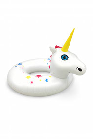 Big Mouth - Riesiger Unicorn Schwimmreifen - White