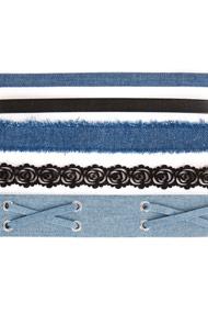No Label - Lot de colliers - Blue + Black