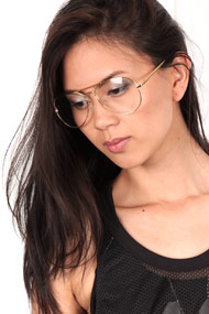 No Label - Lunettes - Gold + Transparent