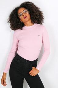 Lacoste - Geripptes Shirt - Rose