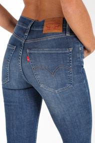 Levi's - High Waist Skinny Jeans - Blue
