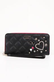 Guess - Portemonnaie - Black + Pink