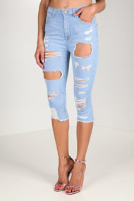 Tally Weijl - Capri Jeans - Light Blue