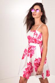 La La & Co - Sommerkleid - White + Pink