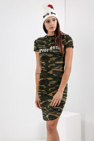 Sixth June - Robe bodycon - Camouflage