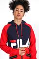 Fila - Crop Sweatshirt - Navy + Red