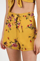 Lux La - High Waist Shorts - Mustard