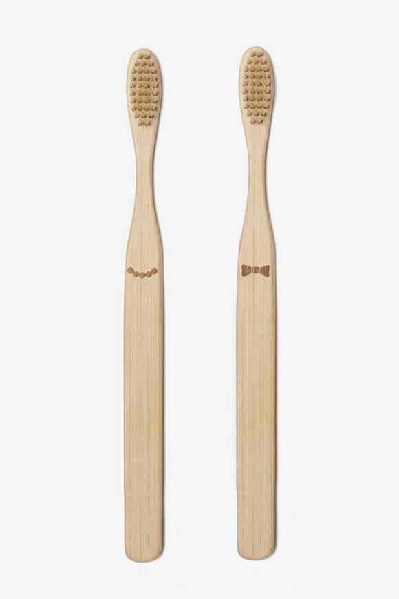 Bild von Doppelpack Bambus-Zahnbürsten