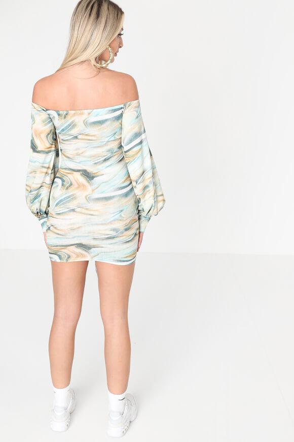 Bild von Geripptes Off Shoulder Kleid