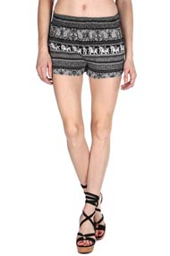 French Kiss - Shorts - Black + White