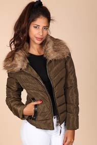 French Kiss - Winterjacke - Olive Green