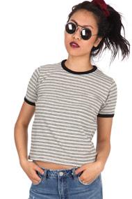 Ruby Tuesday - T-Shirt - Heather Grey + Black + White