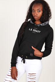 LA SHADY - Kapuzensweatshirt - Black + White