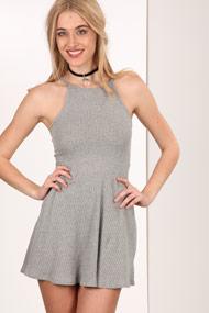 Ruby Tuesday - Geripptes Kleid - Heather Grey