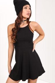 Ruby Tuesday - Geripptes Kleid - Black