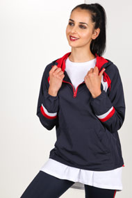 Ruby Tuesday - Leichte Jacke - Navy Blue + Red + White