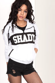 LA SHADY - Windjacke - White + Black
