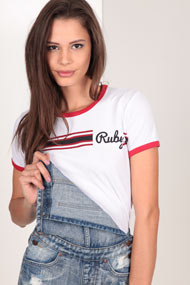 Ruby Tuesday - T-Shirt - White + Red