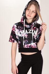 Amazing - Kapuzensweatshirt - Black + Floral