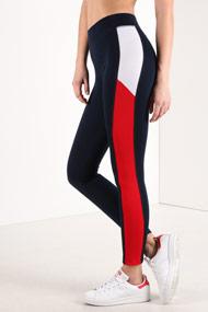 Ruby Tuesday - Leggings - Navy Blue + White + Red