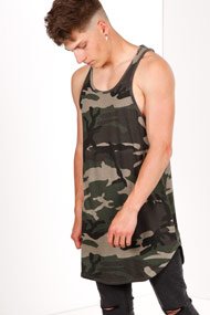 Supercrew - Long Tanktop - Camouflage