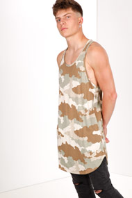 Bear Inc. by Stress - Long Tanktop - Camouflage