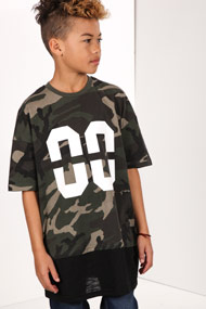 Reset - T-Shirt long - Camouflage + Black