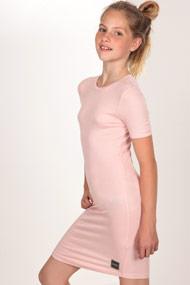SHADY GIRLS - Geripptes Kleid - Rose