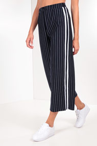 Ruby Tuesday - Culottes - Navy Blue + White